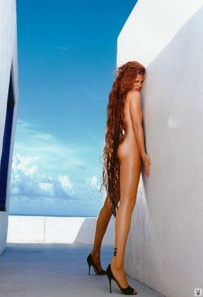 amateur photo Tall redhead Inga in heels