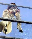 amateur photo Rihanna from below