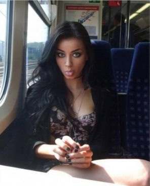 amateur photo Girl on the Train