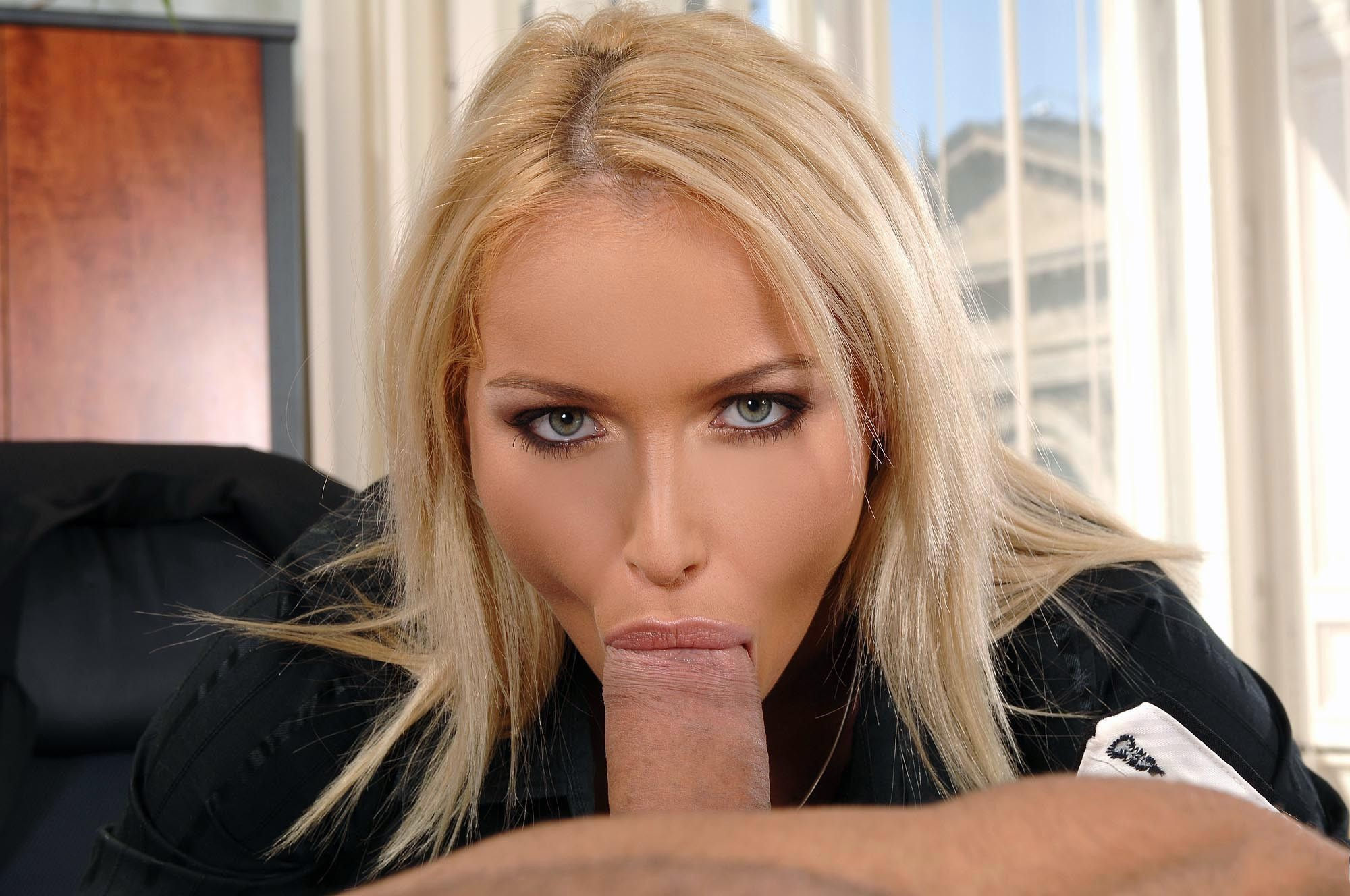 Blonde Blue Eyes Pov Blowjob