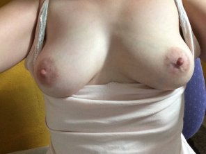amateur photo Love my wife's tits! What do you think?