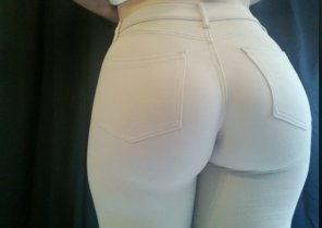 amateur photo Tight pants