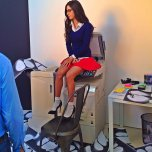 amateur photo Jen Selter making good use of a photocopier.