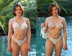 amateur photo What's under the bathing suit