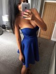 amateur photo Strapless gown