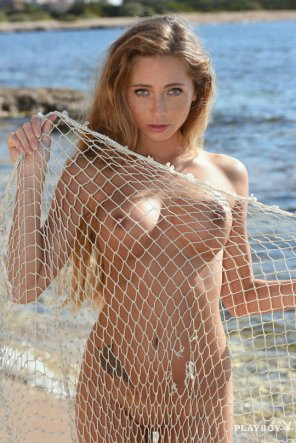 amateur photo Caught in a net