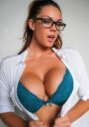 amateur photo Open Shirt, Blue Bra