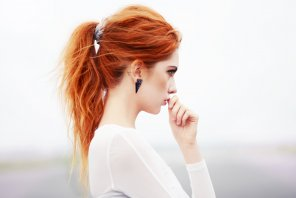amateur photo Red ponytail