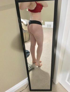 amateur photo Contrasting panties