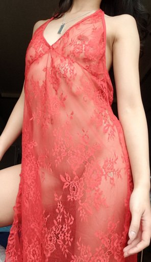 amateur photo See-through sleepwear