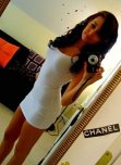 amateur photo Tight white dress