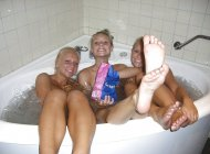 Rub-a-dub-dub three teens in a tub.