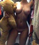 amateur photo Teddy bear is lucky