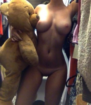 amateur photo Teddy bear is lucky