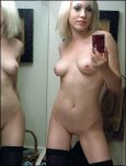 amateur photo That mirror looks almost as dirty as her.