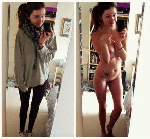 amateur photo OnOff selfie