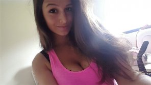 amateur photo Pink Top, Black Bra