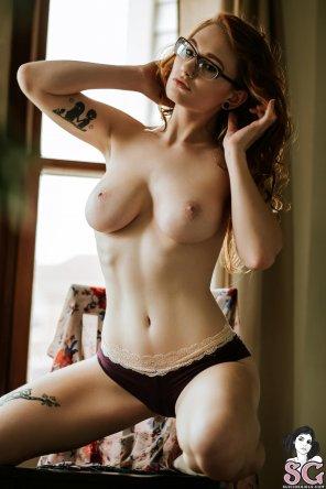 amateur photo On her knees