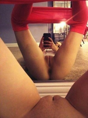 amateur photo Red Tights