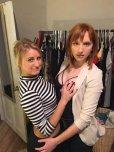 amateur photo friends in a closet