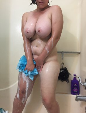 amateur photo Enjoying my shower