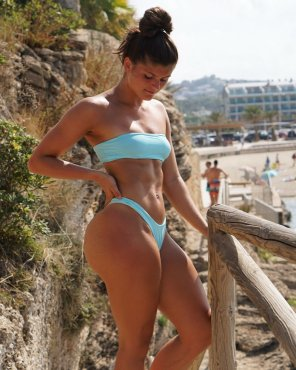 amateur photo Light blue bikini