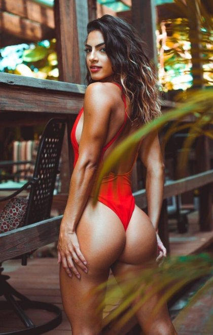 Red one piece Porn Photo