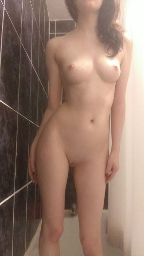 amateur photo I could've stayed in the shower [f]or hours this morning.