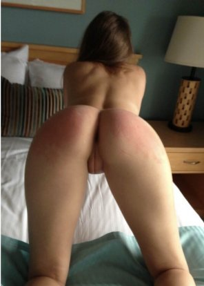 amateur photo Spanked with an innie