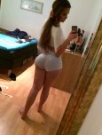 amateur photo Ines Helene in shorts