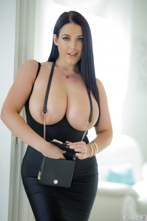 amateur photo Angela White ready to go out