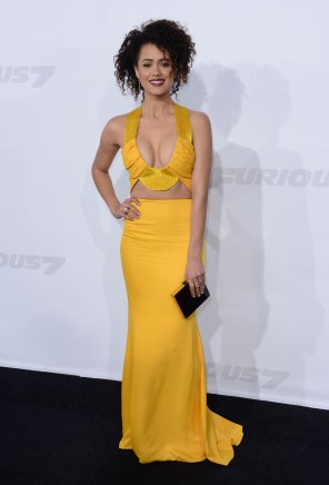 amateur photo Nathalie Emmanuel at the premiere of Furious 7