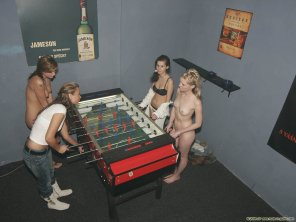 amateur photo Playing foosball