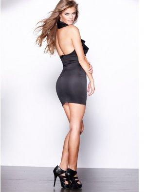 amateur photo Nina Agdal in a little black dress