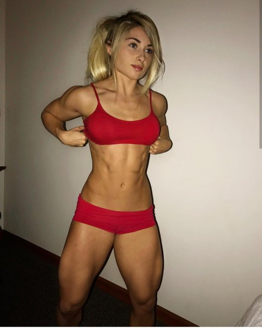 Red is Carriejune's color Porn Photo