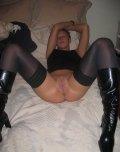 amateur photo Black Stockings & Black Boots