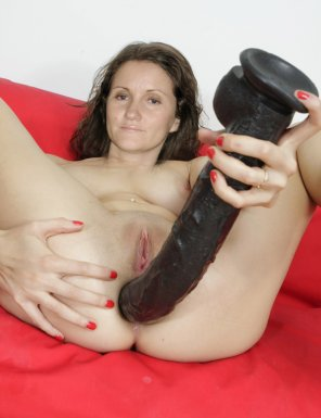 amateur photo Amateur Brunette with Big Sex Toy
