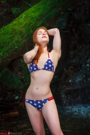 amateur photo Beautiful Redhead Audi in a 4th of July Special