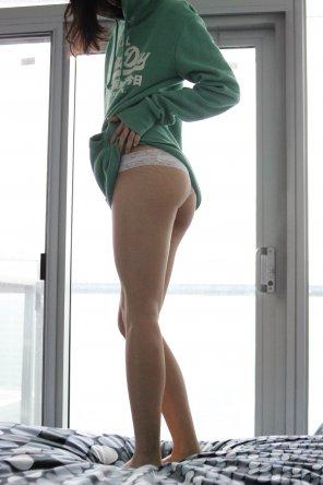 amateur photo Sweater and panties - my fav combo :)