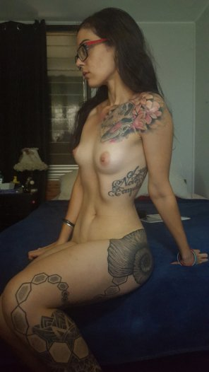 amateur photo Tattooed