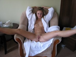 amateur photo bathrobe