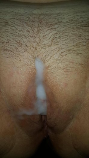 amateur photo Got my lips filled with cum!