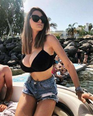 amateur photo That bikini top is struggling