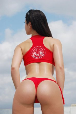 amateur photo Carol Seleme in a Red Thong
