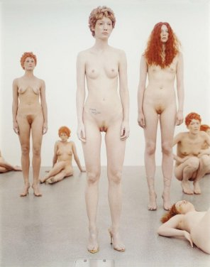 amateur photo PROVENANCE, Gagosian Gallery, London, 2000 performance by Vanessa Beecroft