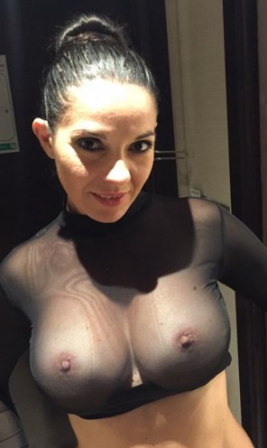 amateur photo That's A Very See-Thru Top!