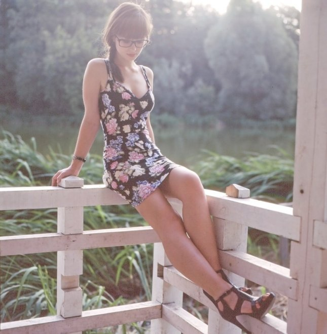 Flower dress Porn Photo
