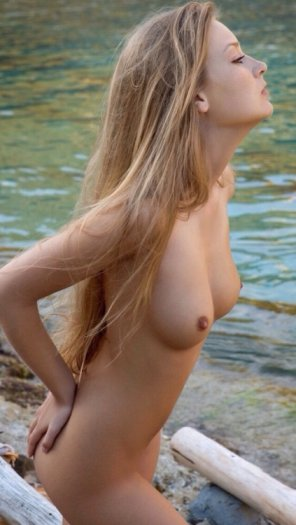 amateur photo Cute Blonde by the Water