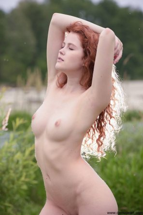 amateur photo Redhead in the wild