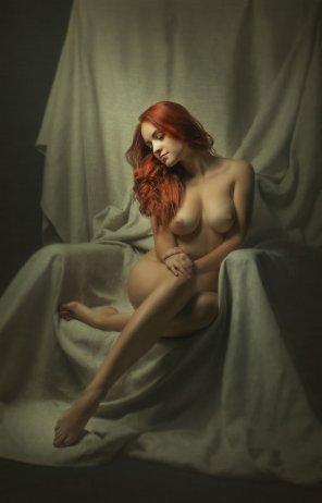 amateur photo Redhead sitting